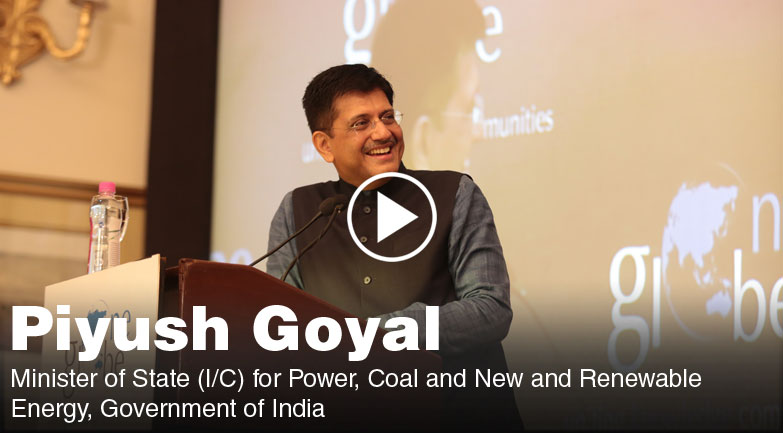 Keynote address by Piyush Goyal on Smart Cities, Digital India & Skill India at One Globe
