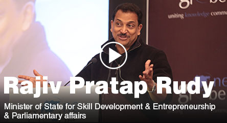 Key note address by Rajiv Pratap Rudy on Skill Development in India at One Globe