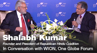 Shalabh Kumar in conversation with WION at One Globe Forum